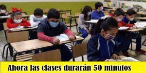 clases duraran 50 minutos
