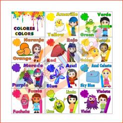 Tarjetas Colores En Español E Inglés