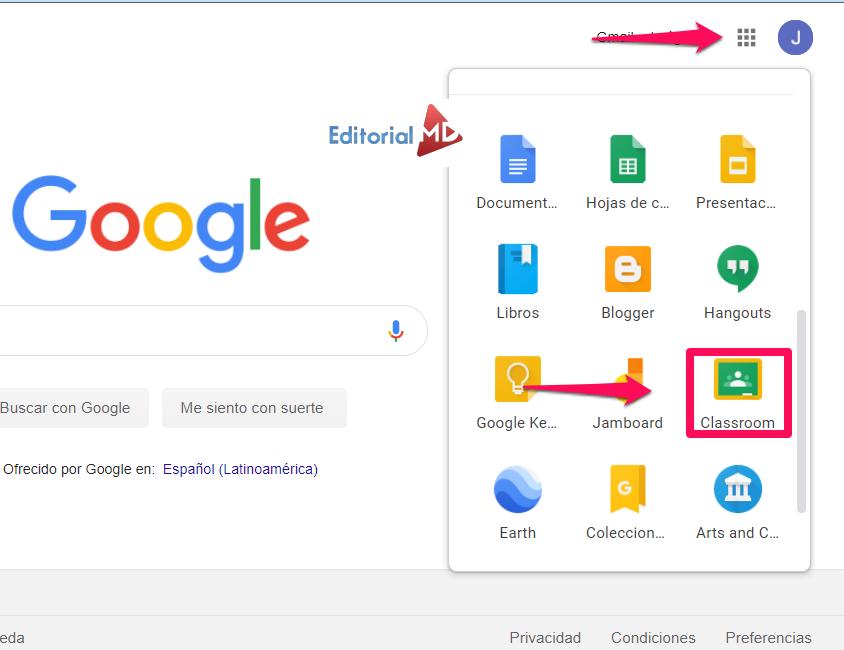 como entrar a google classroom