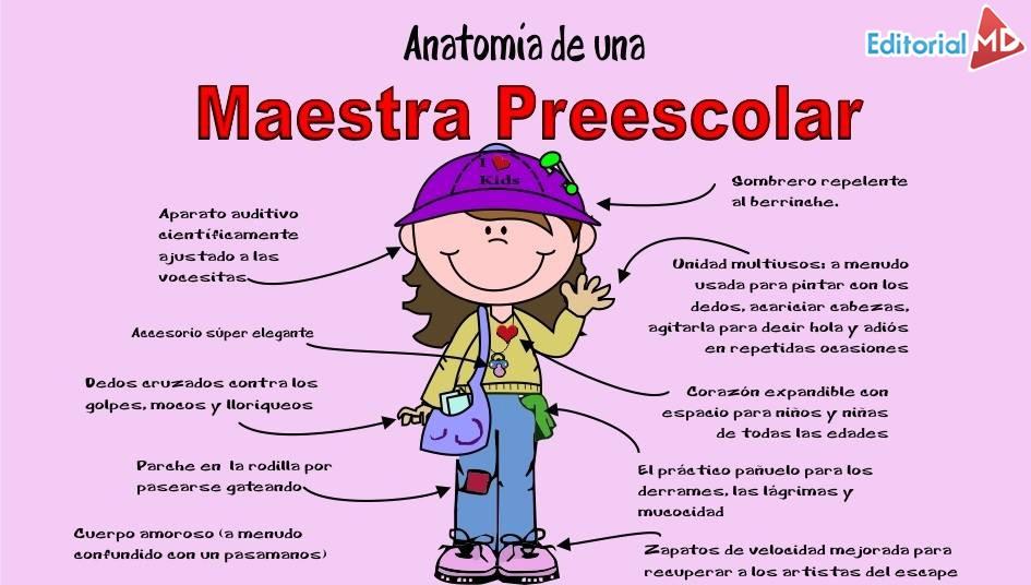maestra de preescolar anatomia