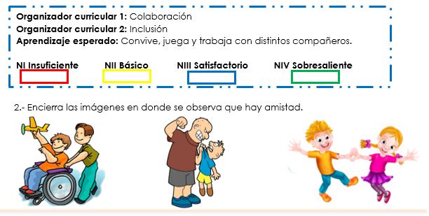 ejemplo de evaluacion segundo momento del campo educación socioemocional