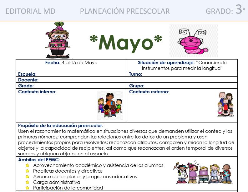 ejemplo planeacion de mayo preescolar