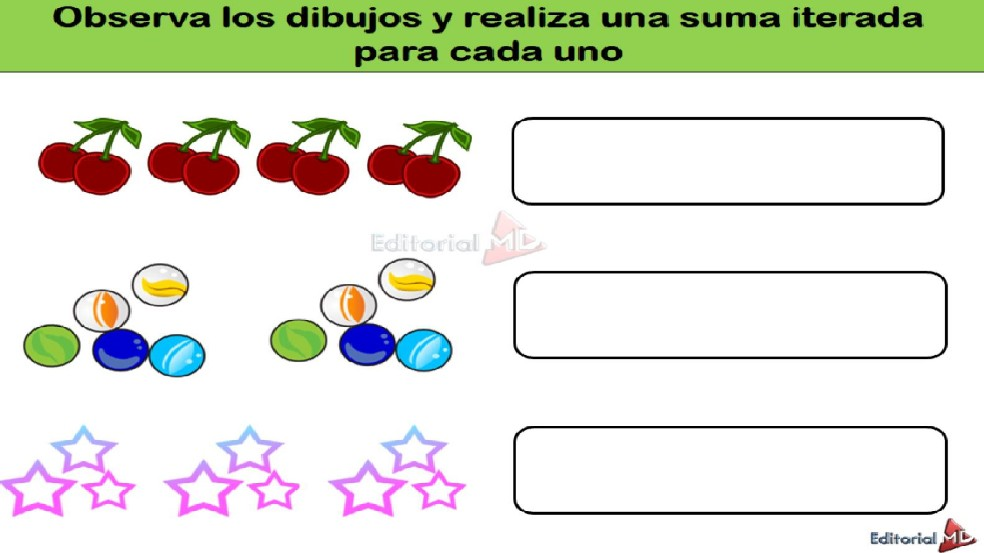 ejemplos de suma iterada