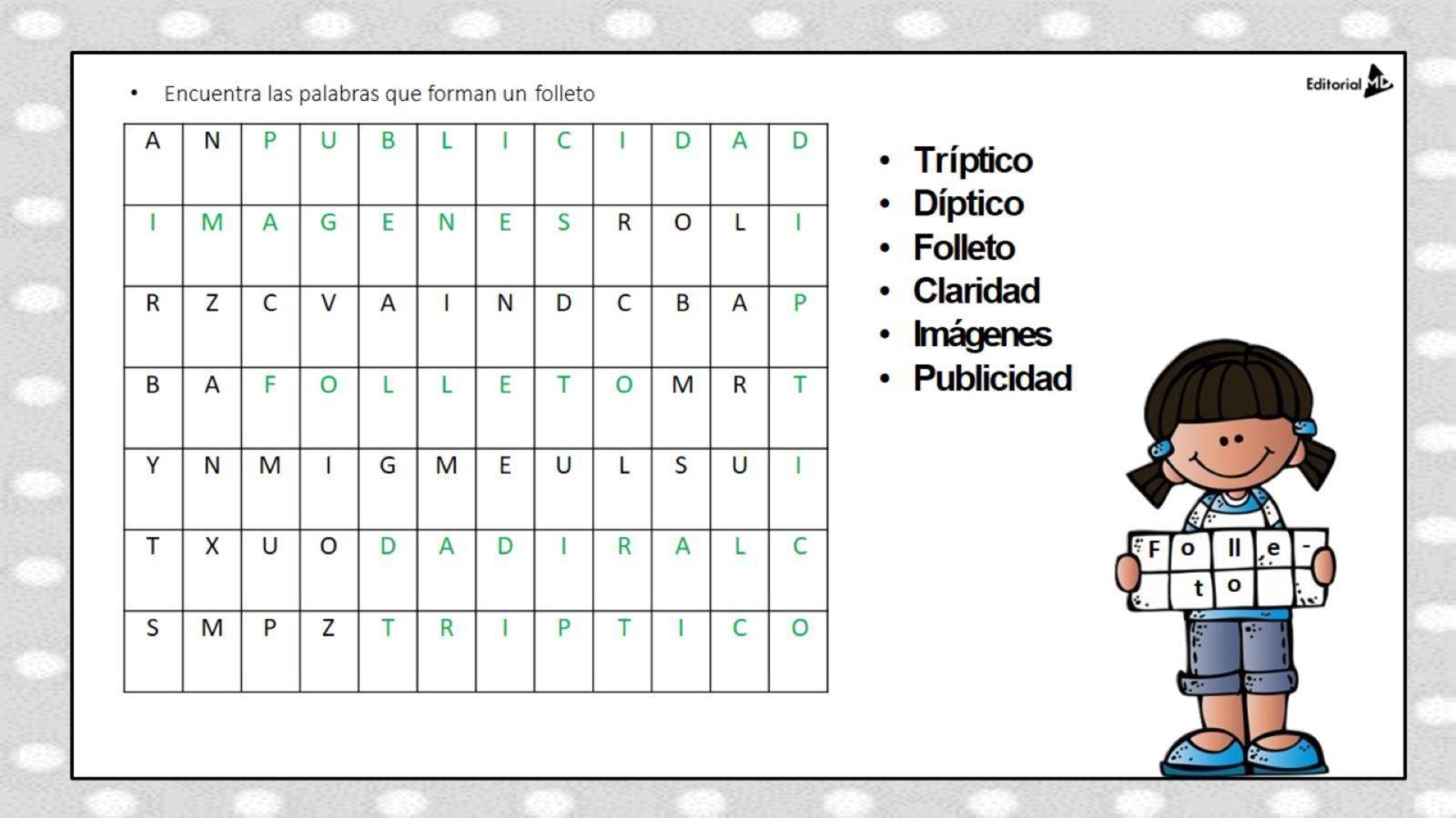 Folletos - Características y Ejemplos para Niños de Primaria