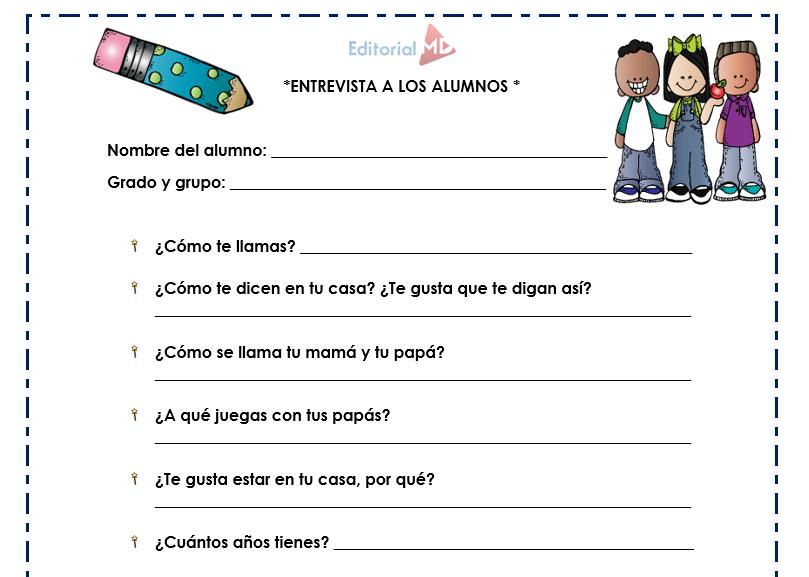 entrevista a los alumnos de preescolar