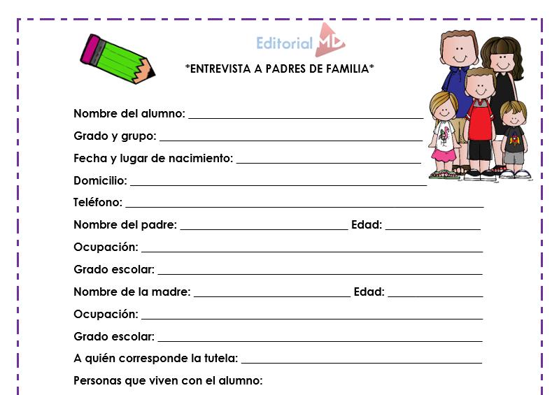 entrevista a padres de familia