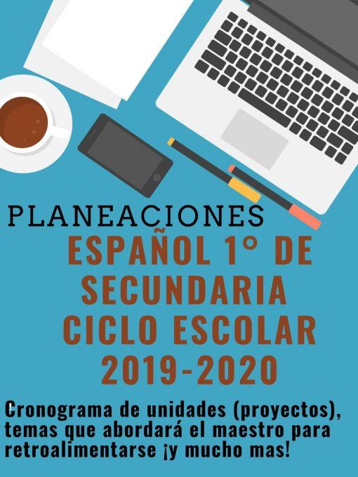 Planeación de español 1° grado de secundaria ciclo 2019-2020