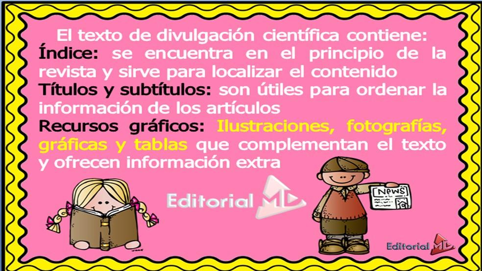 Articulo Y Textos De Divulgacion Cientifica Para Niños Material Para Imprimir