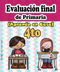 evaluación final de Cuarto grado de primaria