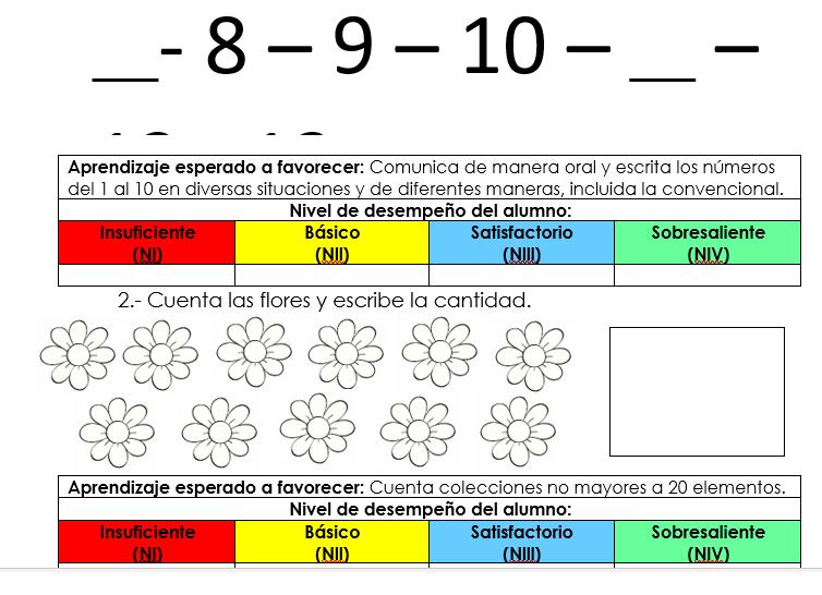 evaluacion aprende en casa matematicas preescolar