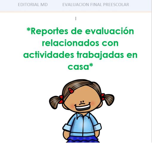 evaluacion aprende en casa preescolar