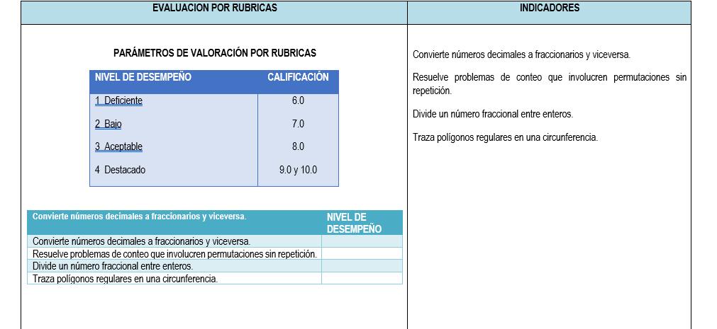 evaluacion curso remedial secundaria