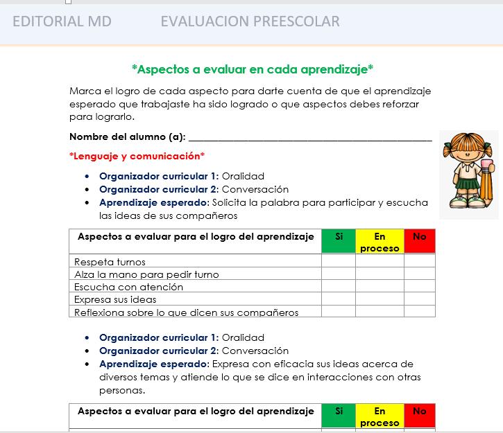 evaluacion intermedia - listas de cotejo