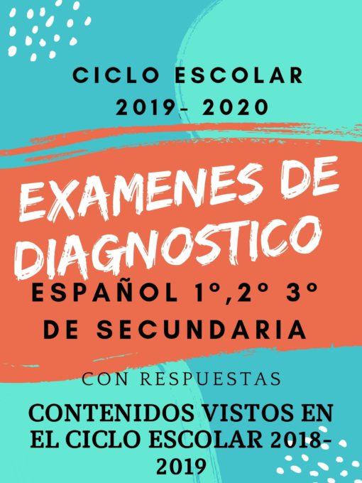 examenes de diagnostico de español secundaria