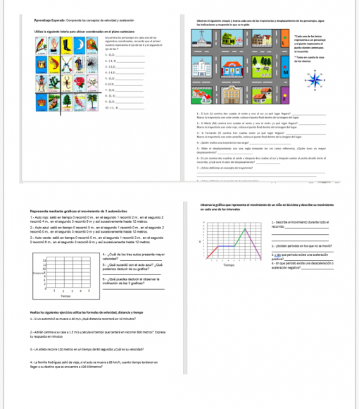 Fichas de trabajo para todos los aprendizajes de Ciencias II FÍSICA