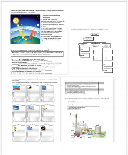 Fichas de trabajo para todos los aprendizajes de Ciencias II FÍSICA 02