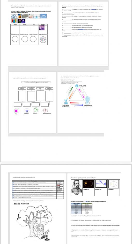 Fichas de trabajo para todos los aprendizajes de Ciencias II FÍSICA 04