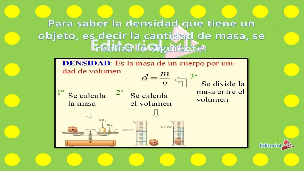 formula calcular la masa