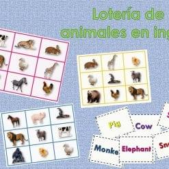 Loteria de animales en ingles