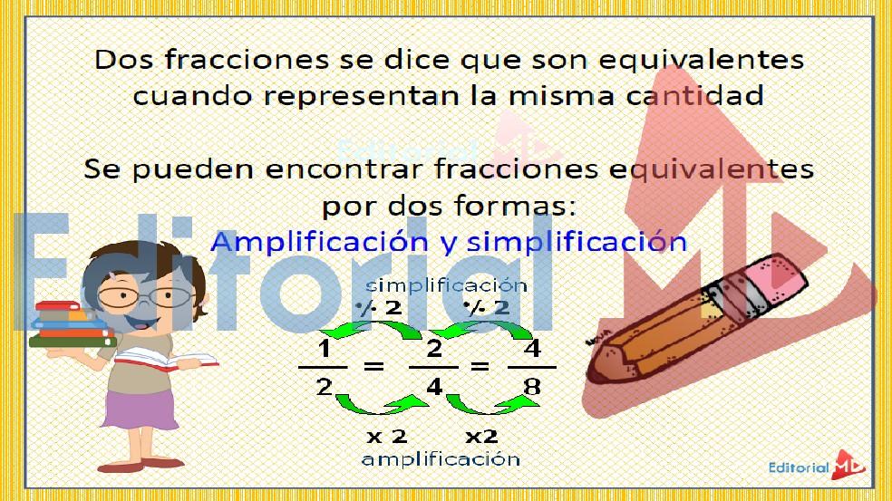 fracciones equivalentes ejemplos