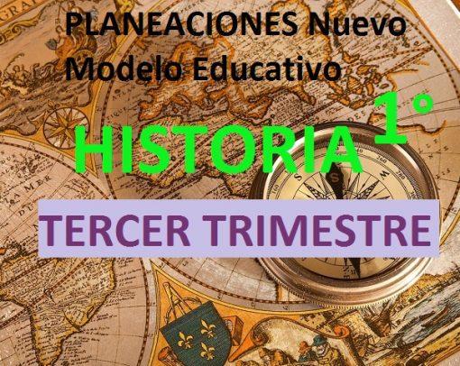 Planeacion Nuevo Modelo Educativo HISTORIA 1 TERCER TRIMESTRE