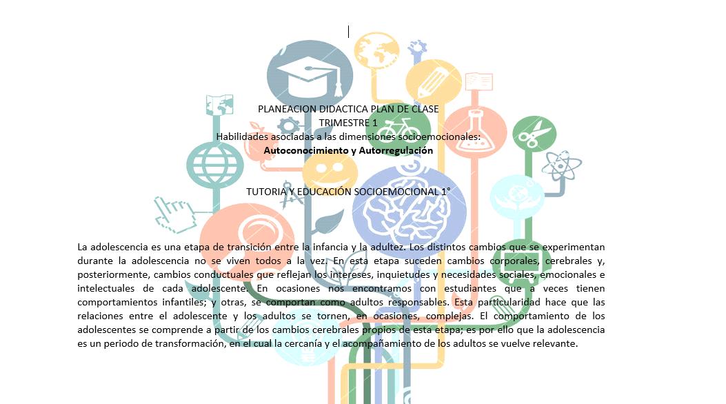 Planeación Educación socioemocional
