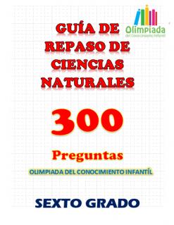 guía de repaso ciencias naturales sexto grado