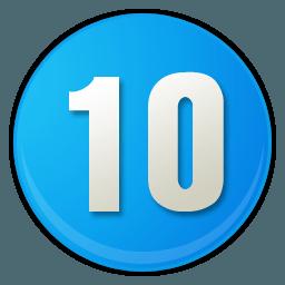 iconos-de-numero-10-azul-cielo-55260