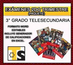 Exámenes 3° de Telesecundaria 2do Trimestre del Nuevo Modelo Educativo