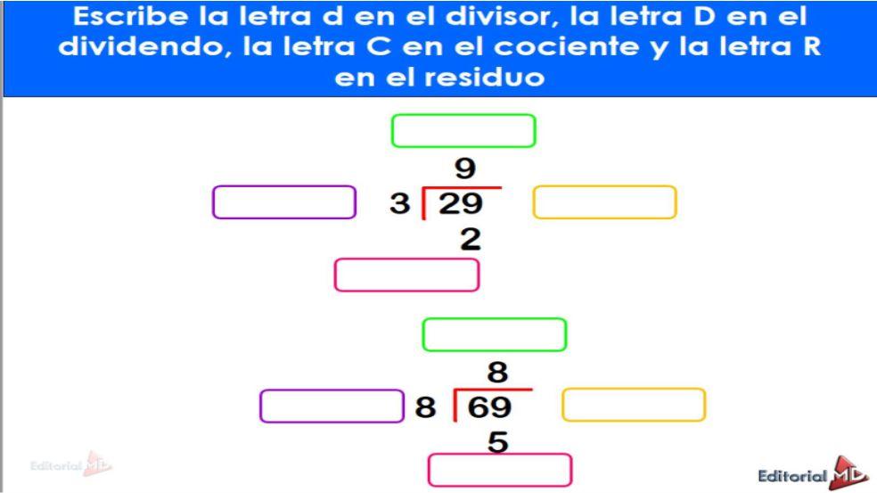 Divisiones Matematicas para Niños de Primaria para todos los Grados