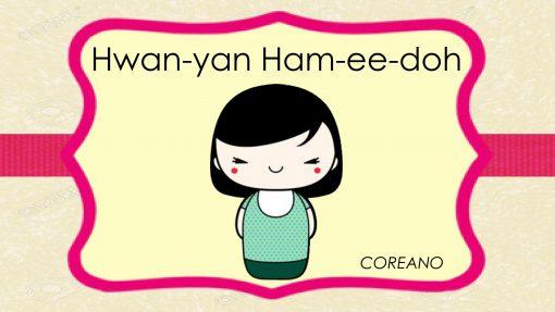 letreros de bienvenida en idiomas Coreano