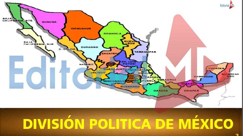 mapa Mexico y sus capitales