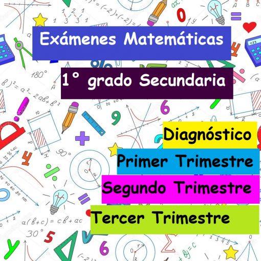 Exámenes Matemáticas (1° grado Secundaria)