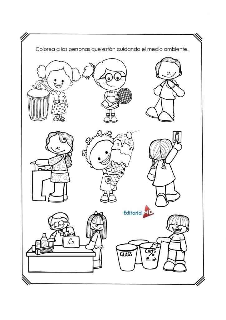 material impreso material de apoyo de preescolar