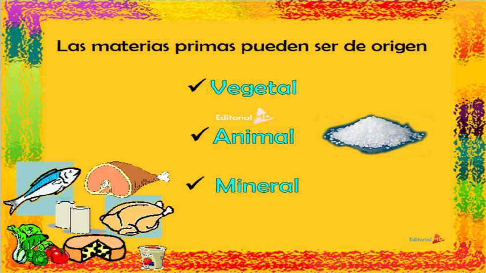 materias primas de origen animal