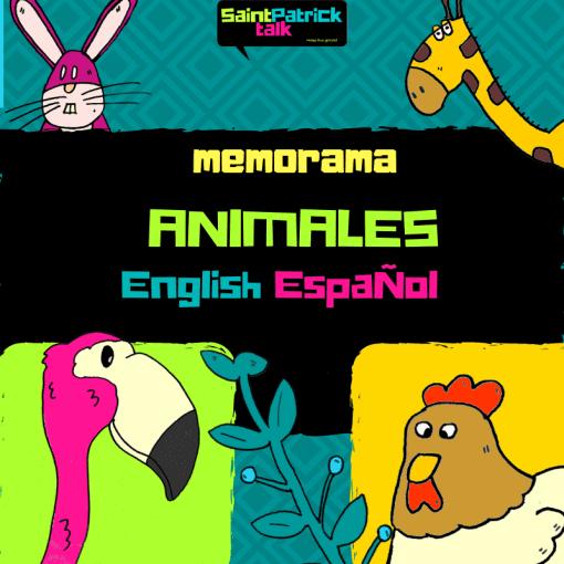 Memorama animales Inglés - Español