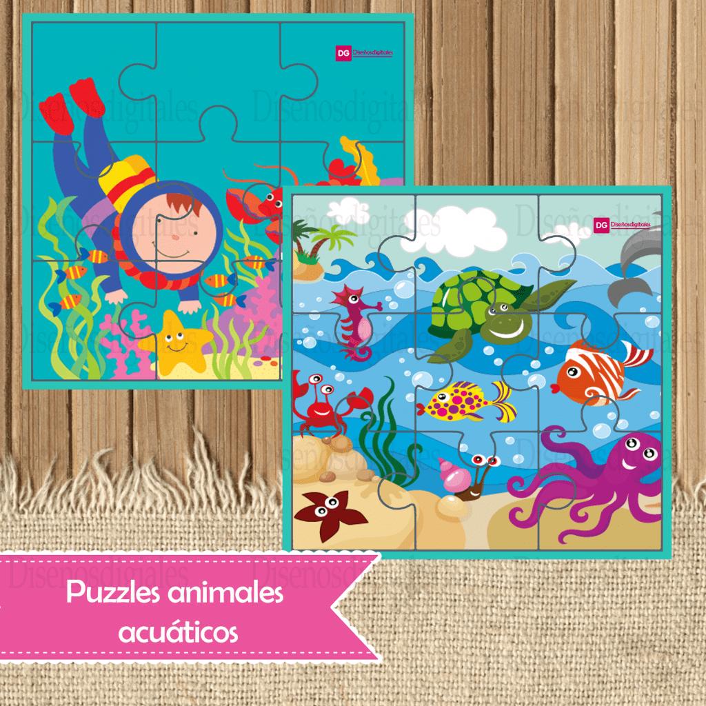puzzles animales acuaticos