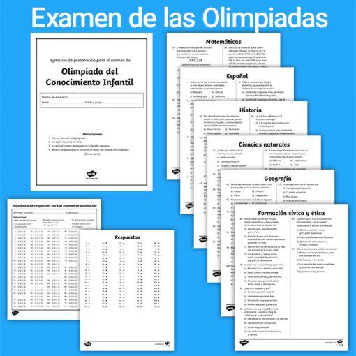 Examen simulacro de las Olimpiadas del conocimiento infantil 2020