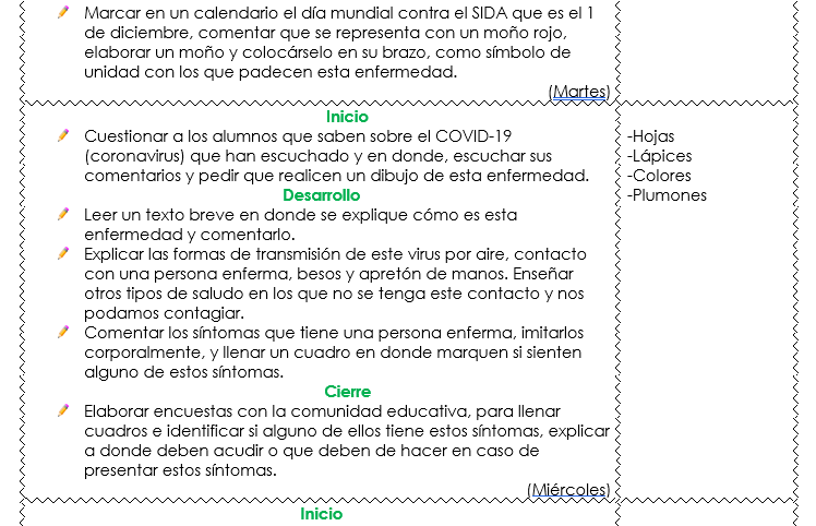 planeacion sobre el coronavirus de preescolar