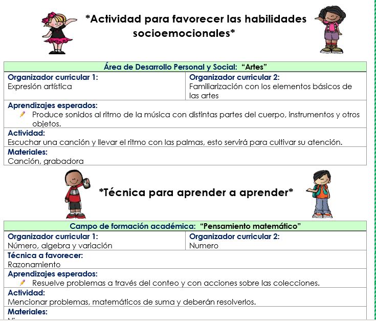 Planeaciones de preescolar con habilidades socioemocionales