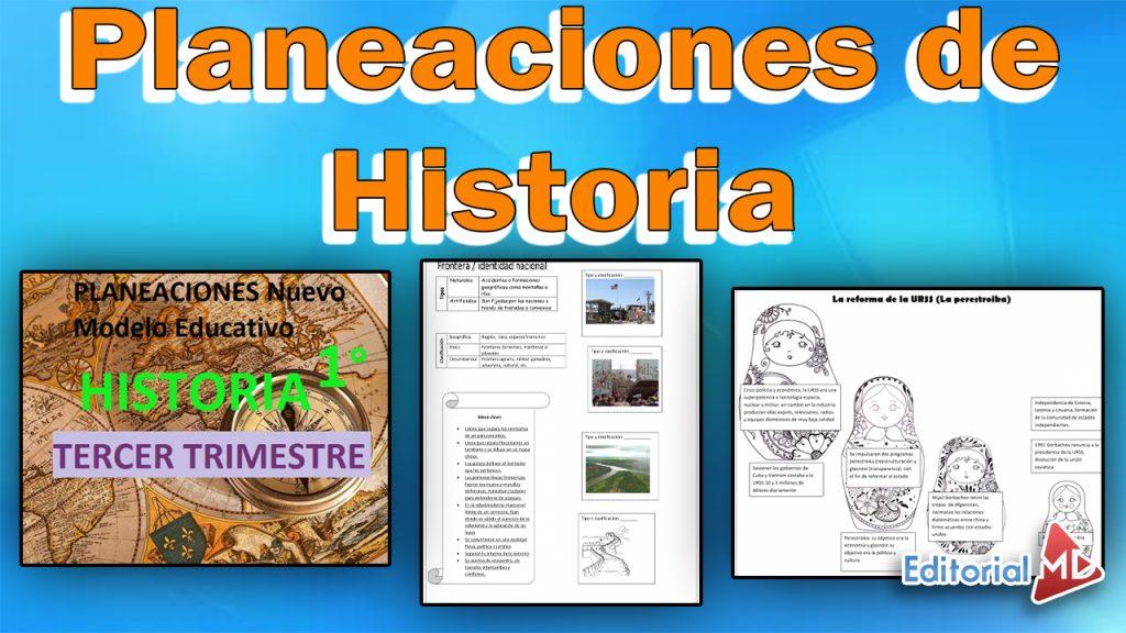 planeaciones Historia