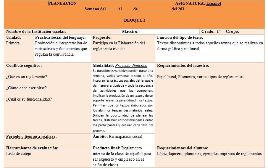 planeaciones de español secundaria primer trimestre