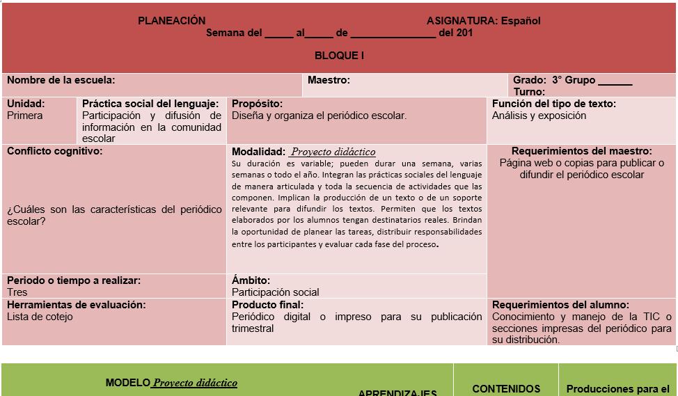 planeaciones de español secundaria tercer grado