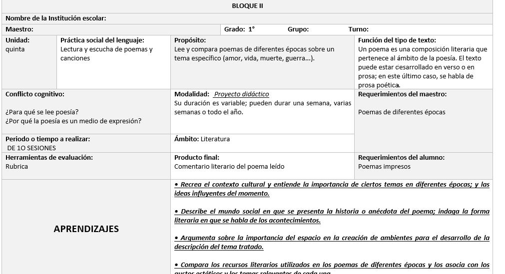 planeaciones primer grado español segundo trimestre