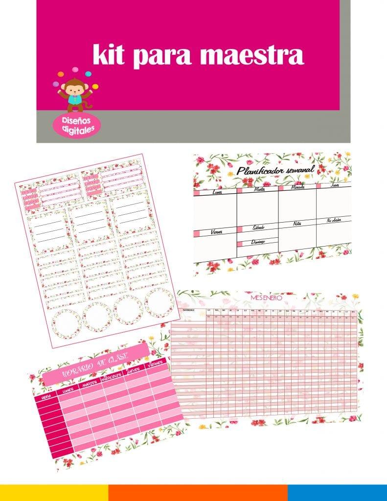 kit para maestra de preescolar y primaria