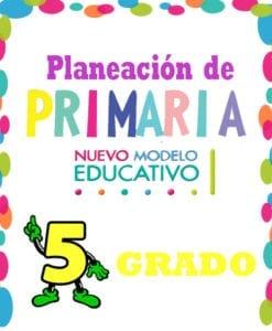 planeación de Primaria 5 grado nuevo modelo educativo
