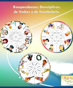 Rompecabezas: Descriptivos, de Verbos y de Vocabulario