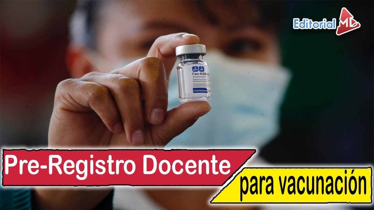 pre registro vacunación docente