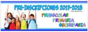 preinscripciones primaria