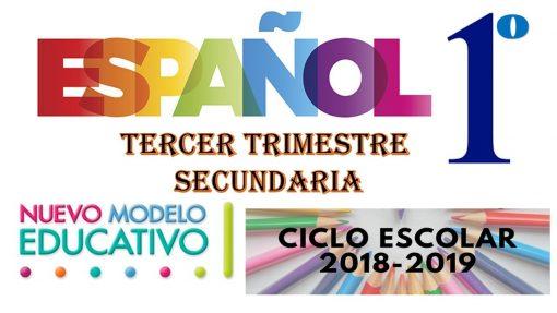 planeacion español tercer trimestre